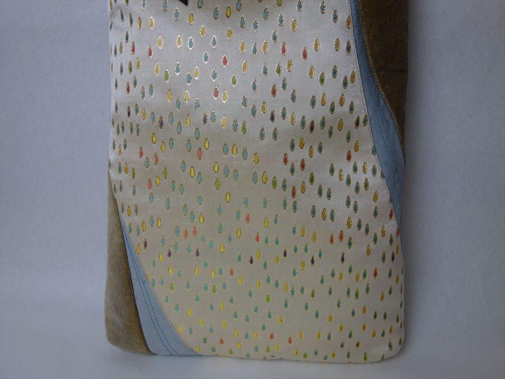 全正絹 西陣金襴 滴紋様 ハンドバッグ