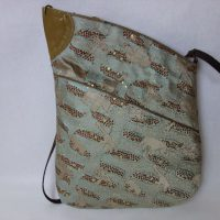 全正絹 西陣金襴 アフリカ紋様 ハンドバッグ