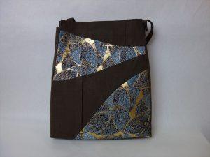 全正絹 西陣金襴 葉脈紋様 バッグ