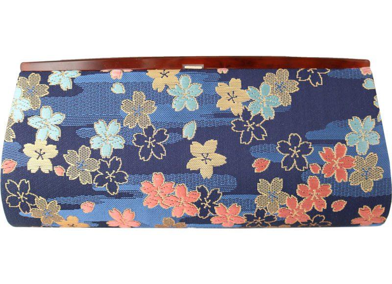 全正絹 西陣金襴 桜紋様 クラッチバッグ