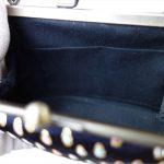 西陣正絹金襴 滴紋様 がま口ハンドバッグ