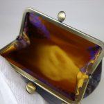 西陣金襴正絹 アフリカ紋様 がま口ハンドバッグ