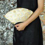 扇形バッグ Fan-shaped bag 西陣織 金襴 正絹