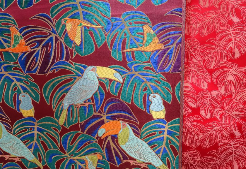 NishijinKinranMonstera and Bird