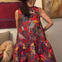 「ATTRATTI-VA」×西陣金襴 モンステラと鳥のドレス