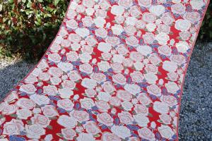 全正絹 西陣金襴 バラ紋様