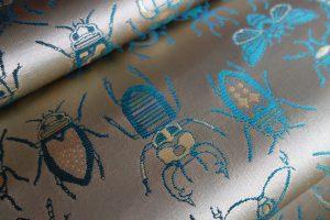 全正絹 西陣金襴 INSECT 虫紋様全正絹 西陣金襴 INSECT 虫紋様