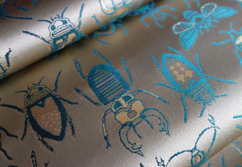 西陣織 金襴 正絹 INSECT 虫紋様全正絹 西陣金襴 INSECT 虫紋様
