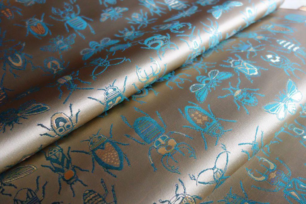 全正絹 西陣織 金襴 INSECT 虫紋様