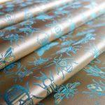西陣織 金襴 正絹 INSECT 虫紋様