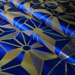 西陣織 金襴 正絹 hemp leaf big