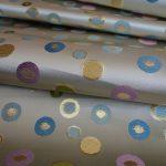 西陣織金襴 全正絹 水玉紋様