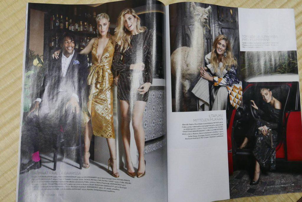 グロリア12月号 西陣 岡本×北欧のデザイナーによるオートクチュールドレス