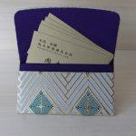西陣織 金襴 名刺入れ 菱つなぎ紋様B