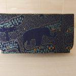 西陣織 金襴 名刺入れ アフリカ紋様B