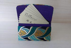 西陣織 金襴 名刺入れ 燕矢紋様C