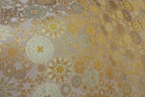 西陣織 金襴 正絹 雪輪紋様
