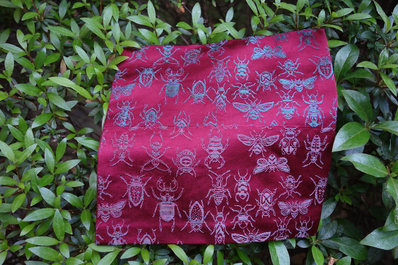 緞子 全正絹 西陣織 INSECT 虫紋様