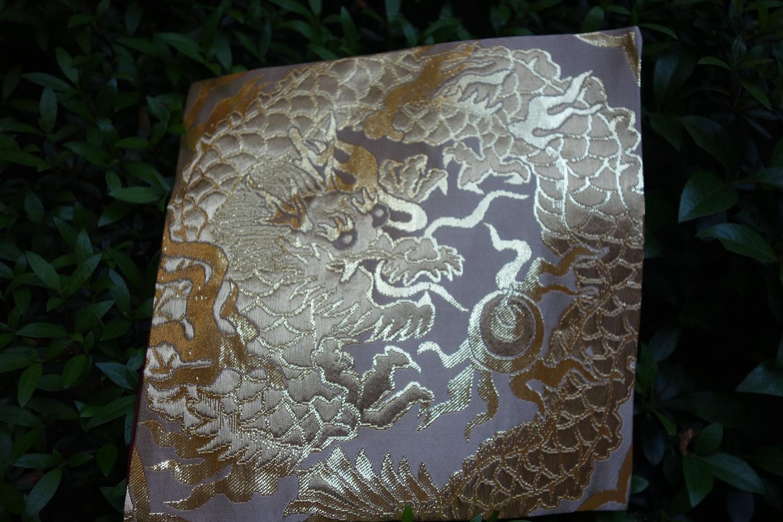 全正絹 西陣織 金襴 散雲丸龍紋様