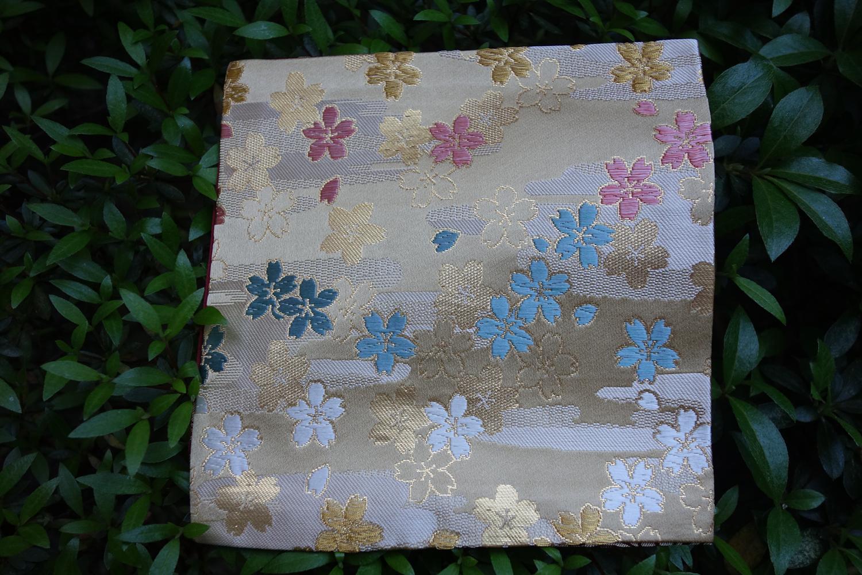 全正絹 西陣織 金襴 さくら紋様
