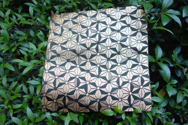 全正絹 西陣織 金襴 箔一丁 麻の葉紋様