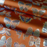 全正絹 西陣織 金襴 Butterfly 蝶紋様