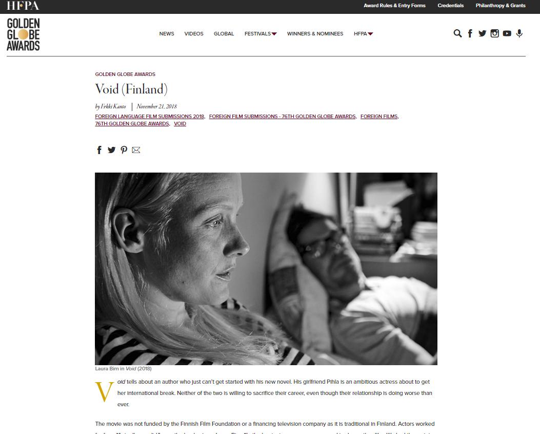 フィンランド映画、「Void」