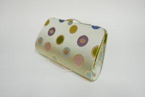 全正絹 西陣織 金襴 水玉紋様 クラッチバッグC