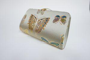 全正絹 西陣織 金襴 Butterfly 蝶紋様 クラッチバッグA