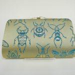 全正絹 西陣織 金襴 Insect 虫紋様 クラッチバッグF