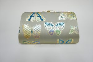 全正絹 西陣織 金襴 Butterfly 蝶紋様 クラッチバッグB