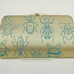 全正絹 西陣織 金襴 Insect 虫紋様 クラッチバッグC
