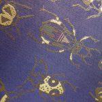 全正絹 西陣織 金襴 Insect 虫紋様2