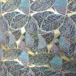 全正絹 西陣織 金襴 葉脈紋様3