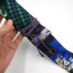 西陣織 金襴 正絹 クレイジーキルト作品 篠笛袋