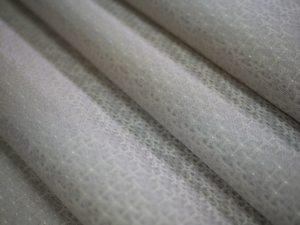 西陣織 金襴 正絹 独楽つなぎ紋様 白銀